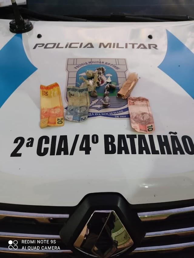 Santa Cruz dos Milagres: Dois homens presos em flagrante por tráfico de drogas