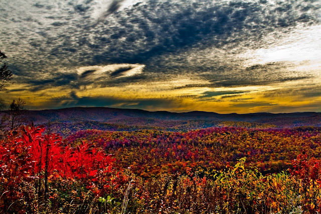 WV Fall Foliage Mountain Sunrise