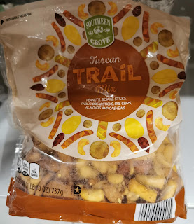 A bag of Southern Grove Tuscan Trail Mix, from Aldi