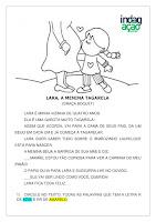 Atividade Lara, a menina tagarela; imprimir PDF grátis