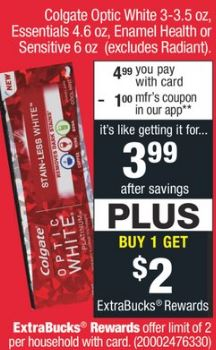 free colgate cvs coupon deal
