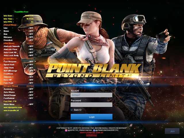 Cheat Point Blank Zepetto 2 Agustus 2019