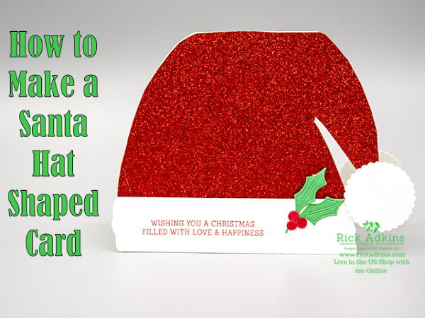 How to Make a Santa Hat Shaped Christmas Card Video Tutorial