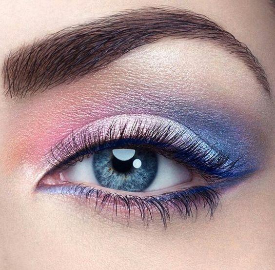 make-up summer look unicorn eye