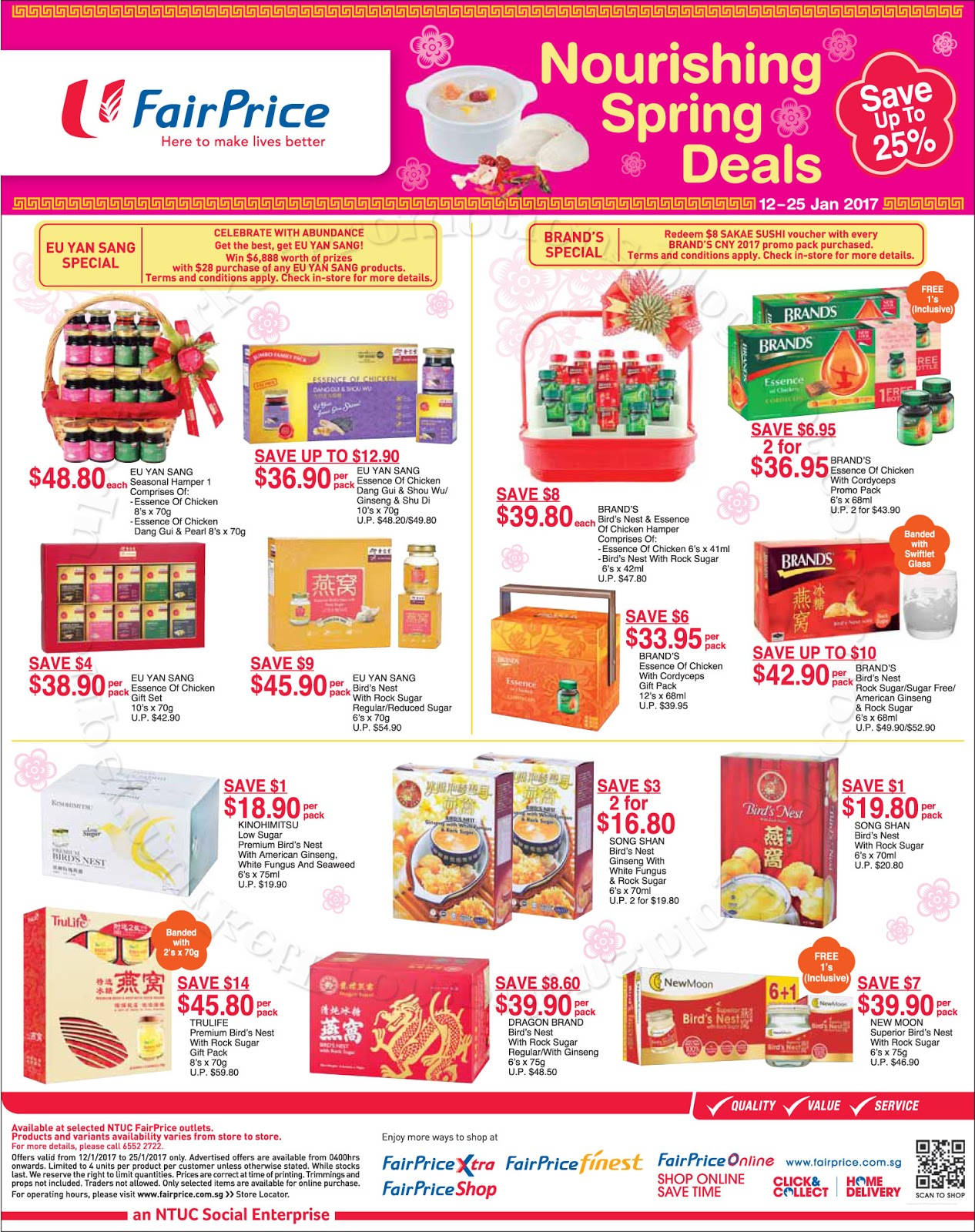 NTUC FairPrice Chinese New Year Hampers Gifts 12 25 January
