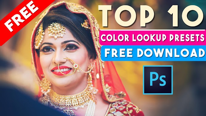 Free Download TOP-10 Color Lookup Presets 3Dluts in Photoshop