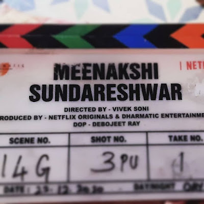 Meenakshi Sundareshwar movie shoot