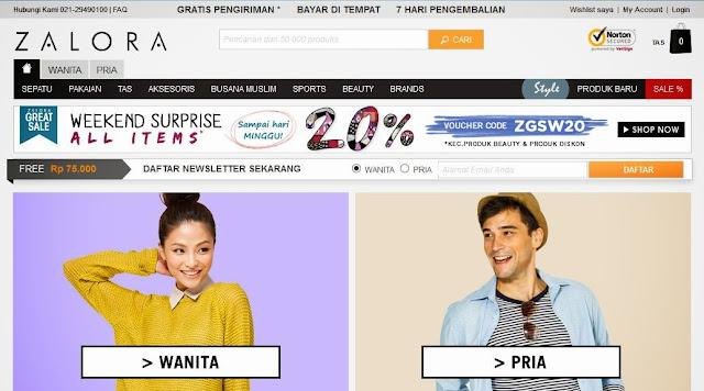 zalora.co.id toko online fashion terpercaya