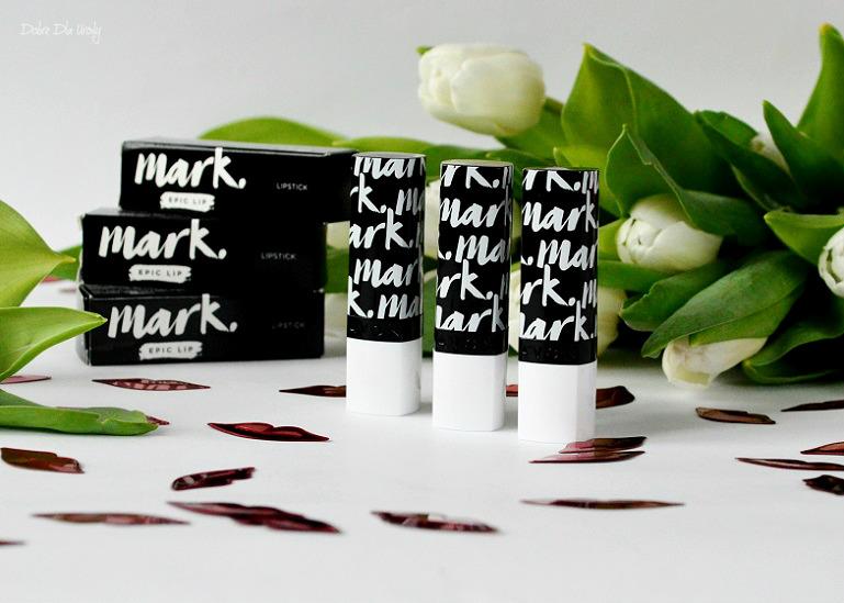 Trwałe szminki Avon Mark Moc koloru - Sangria Shock, Blushing Beauty i Rosy Outlook recenzja