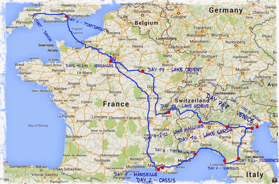 Road Map Of France And Italy.Vw Transporter Road Trip 17days 2500miles Euro Road Trip France