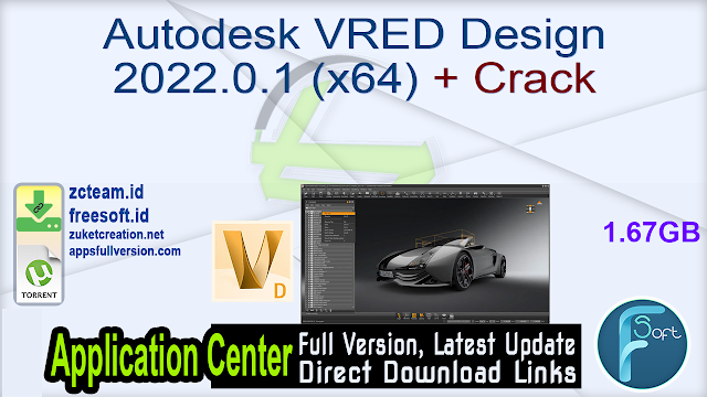 Autodesk VRED Design 2022.0.1 (x64) + Crack_ ZcTeam.id