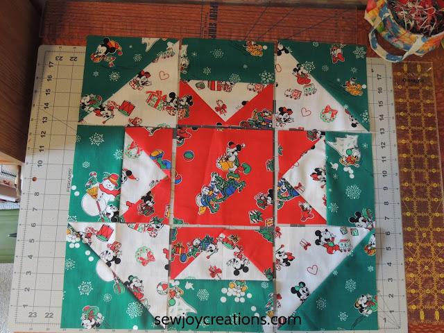 star churn block patchwork block vintage fabrics