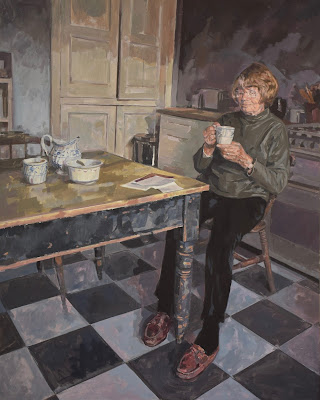 Greg Mason Painting Eileen Ellis RDI (Royal Designer) for the Royal Portrait Society Award 2017