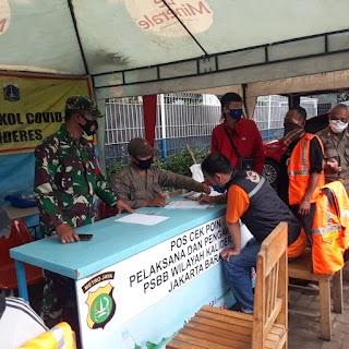 16 Pengendara Di beri Sanksi, Dalam Operasi Yustisi Gabungan Tiga Pilar Kalideres