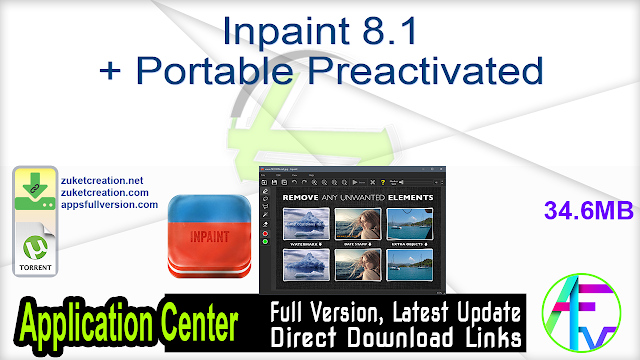 Inpaint 8.1 + Portable Preactivated