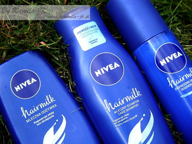 Nivea Hair Milk szampon odżywka ekspresowa odżywka w sprayu do włosów normalnych