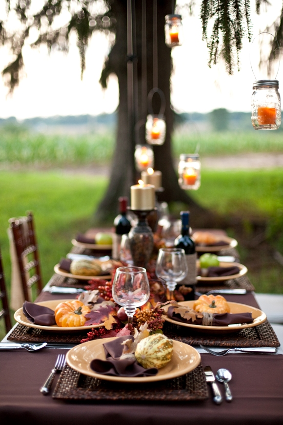 Thanksgiving diy tablescape a dinner party ideas party - Thanksgiving dinner table decorations ...