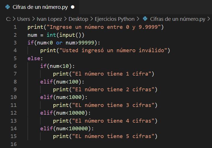 Cuantas cifras tiene un número en Python