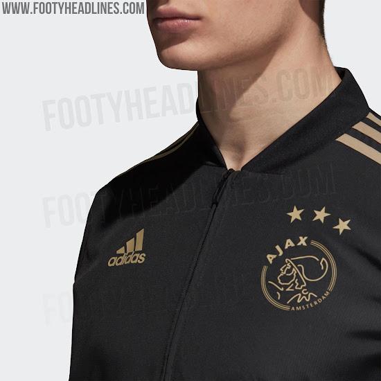 new arrival 4529b 955fd Better LAFC? Black & Gold Ajax 18-19 Track Jackets Leaked ...