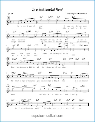 In a Sentimental Mood chords jazz standar