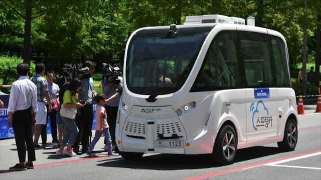 Festival de coches autónomos conducidos por 5G en Corea del Sur