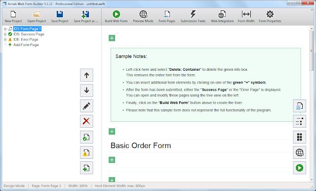 Screenshot Arclab Web Form Builder 5.1.12 Full Version