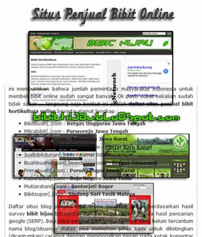 kumpulan situs penjual bibit online