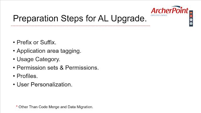 Preparation Steps for AL Upgrade