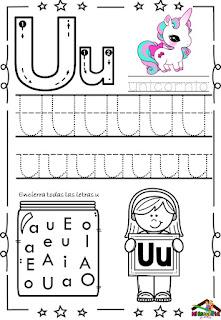 trazos de vocales para imprimir pdf