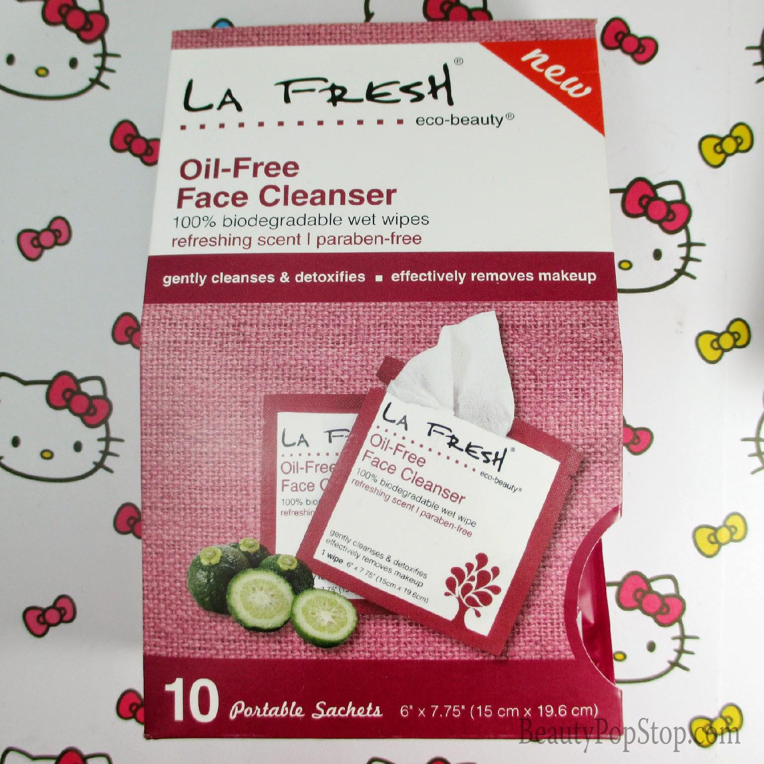 LA Fresh oil-free face cleanser cloths review
