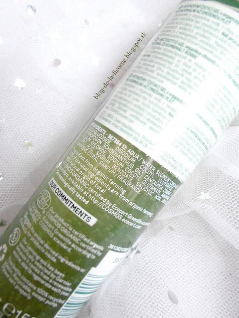 Čistiaci gél Garnier Bio Lemongrass ingrediencie