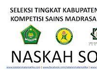 Download Soal KSM 2019 Tingkat Kabupaten-Kota dan Kunci Jawaban