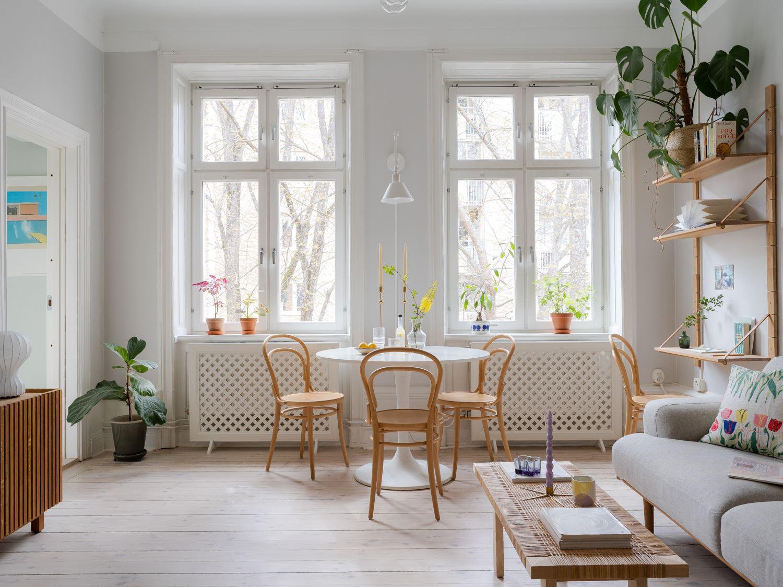 Un piccolo e luminoso appartamento svedese