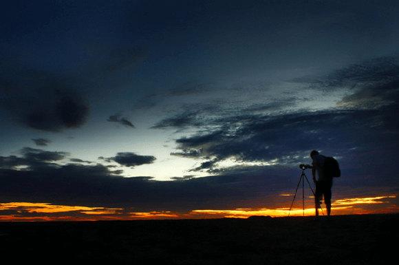 Menangkap Senja di Pantai Pangandaran (MT Harsana/fotokita.net)