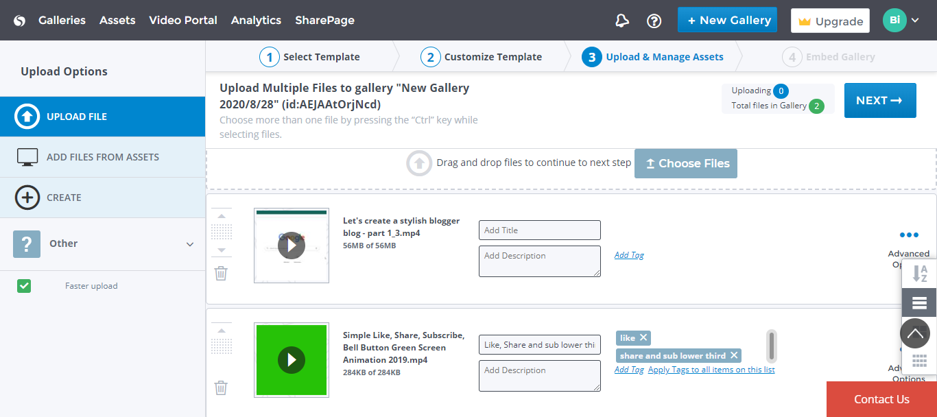 How add video course gallery on Blogger