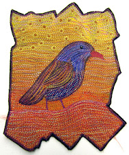 Purple Bird Art Quilt
