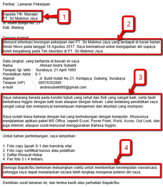 Panduan Cara membuat surat lamaran kerja yang berkualitas