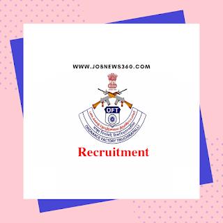 Ordnance Factory Recruitment 2020 for ITI Apprentice & Non-ITI Apprentice