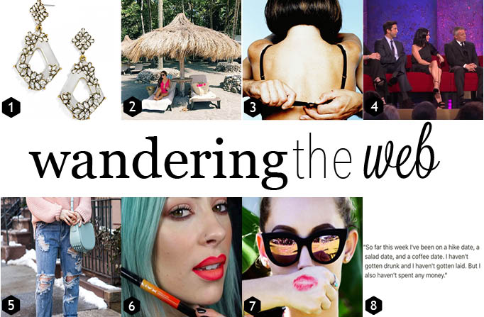A beautiful resort getaway, a funny new Instagram account and the most popular earrings of spring