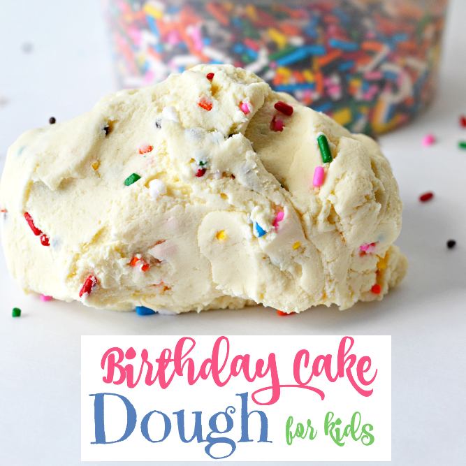 Birthday Cake Edible Dough