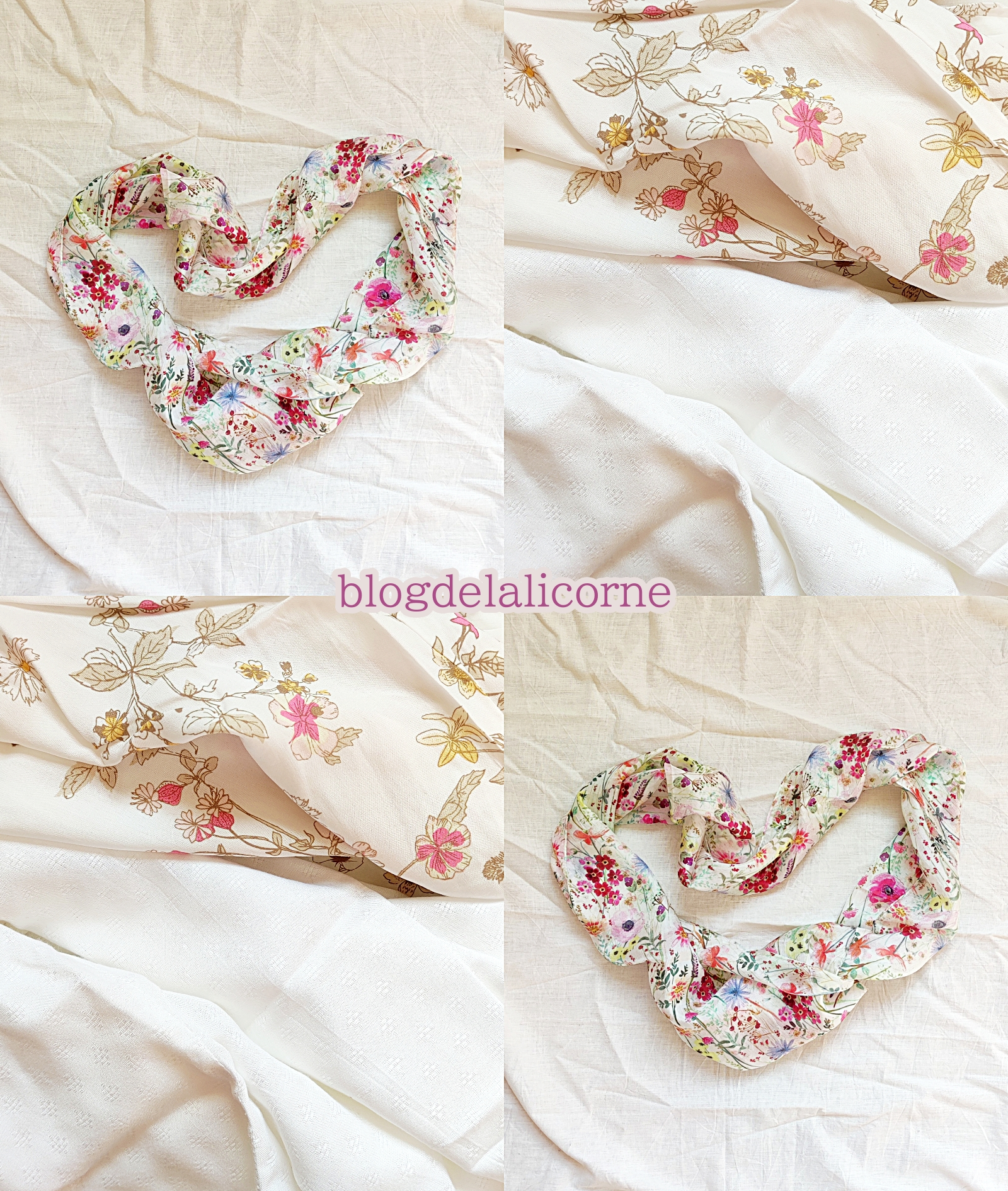 Bonprix Hodvábna kvetinová šatka