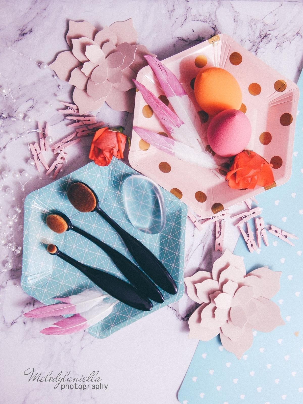 1 clavier gąbka do makijażu blending sponge szczoteczka do aplikacji cieni bazy korektora rozświetlacza bronzera silikonowa gąbeczka do makijażu czym się malować akcesoria kosmetyczne pędzle do makijażu gąbki