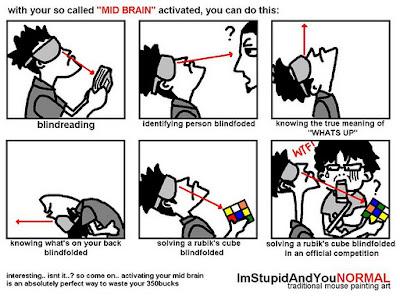 Meme yang menyindir tentang aktivasi otak tengah