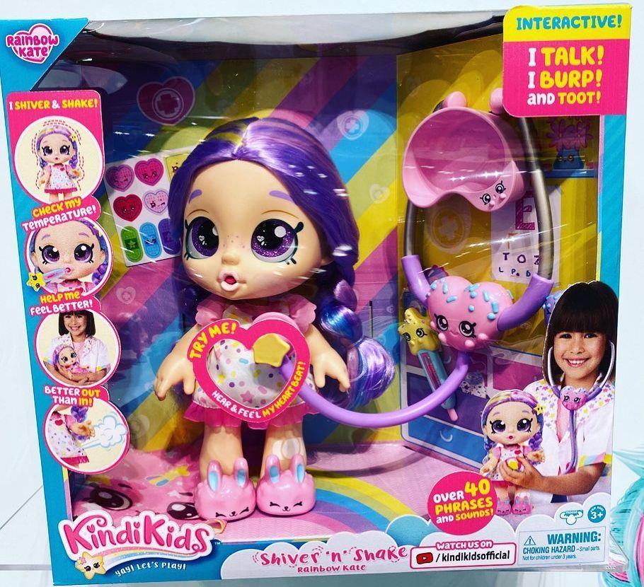 Интерактивная кукла пациентка Kindi Kids I Shiver & Shake Rainbow Kate