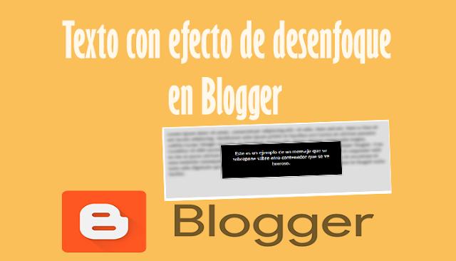 Texto con efecto de desenfoque en Blogger