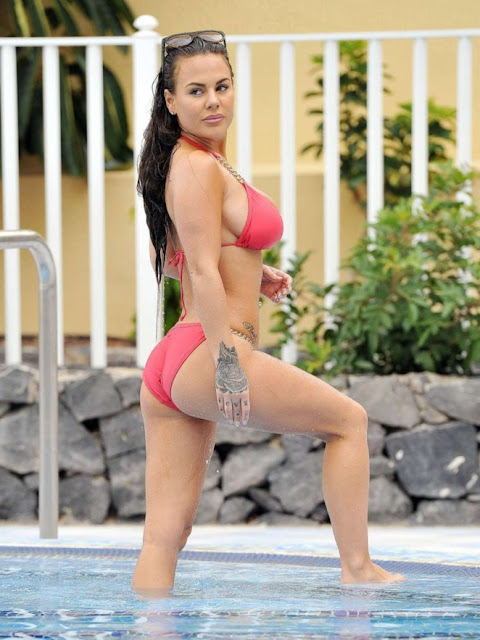 Chantelle Connelly in Red Bikini