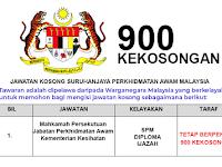 Jawatan Kosong di Suruhanjaya Perkhidmatan Awam SPA - Pelbagai Agensi/Jawatan