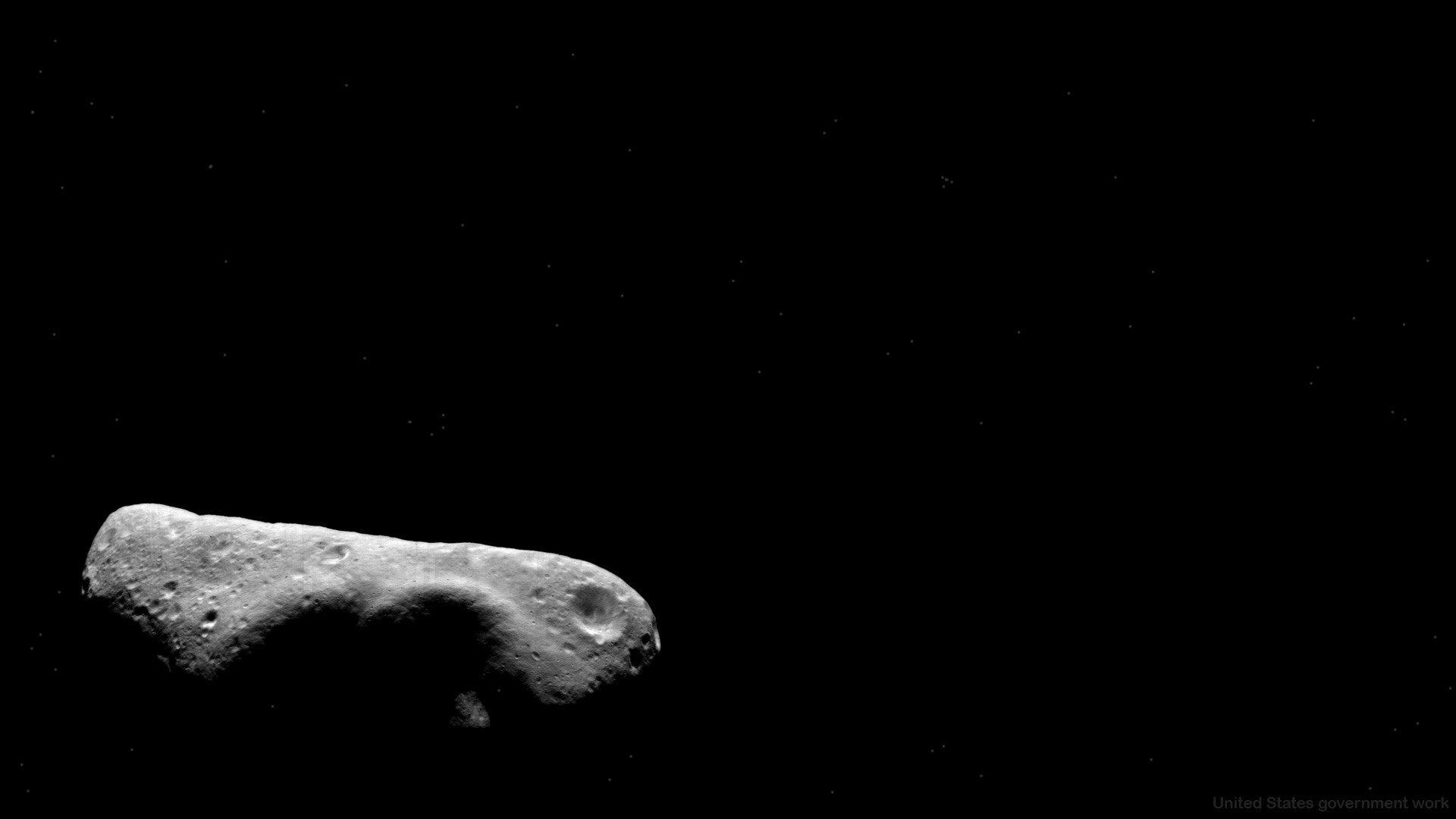 Asteroid Floating in deep space - Free HD Background