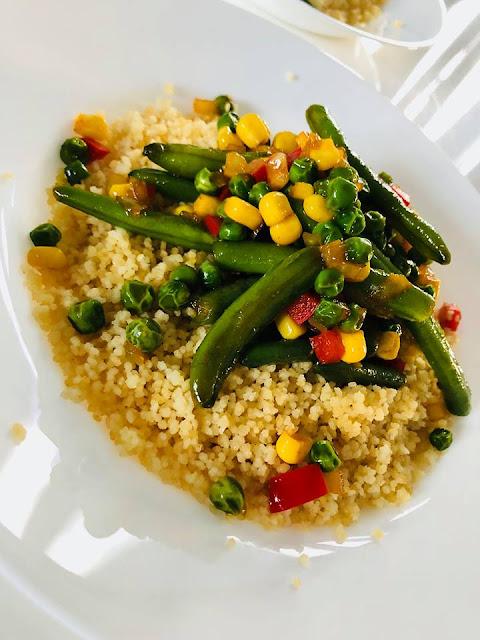 Przepisy kulinarne Szybki Kuskus z warzywami