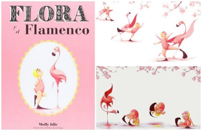 cuento sin texto Flora y el flamenco, sobre amistad